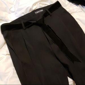 Trouser Pant with Velvet Sash Belt
